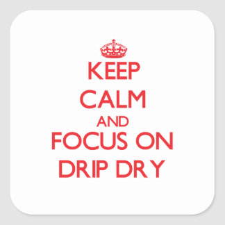 Keep Calm and focus on Drip Dry Stickers