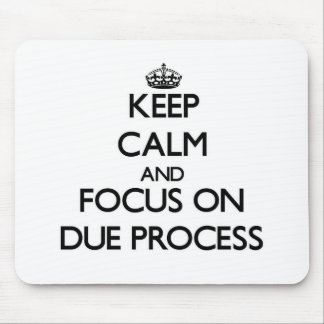 Keep Calm and focus on Due Process Mousepads