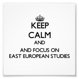 Keep calm and focus on East European Studies Art Photo