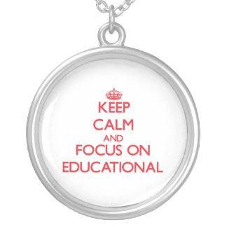Keep Calm and focus on Educational Pendant