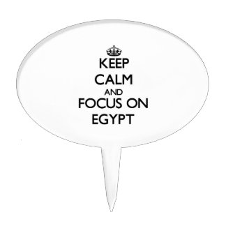 Keep Calm and focus on EGYPT Cake Toppers