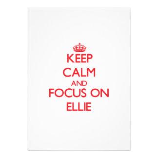 Keep Calm and focus on Ellie Custom Announcements