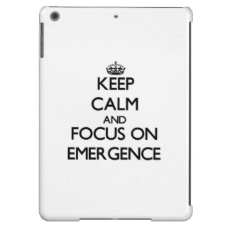 Keep Calm and focus on EMERGENCE iPad Air Cases