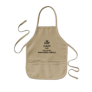 Keep Calm and focus on ENDANGERED ANIMALS Apron