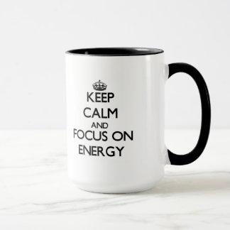 Keep Calm and focus on ENERGY Mug