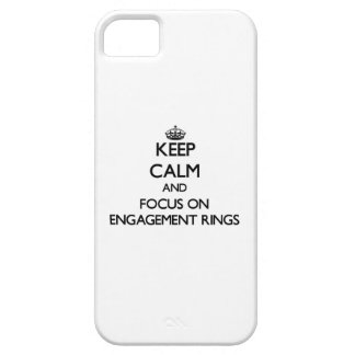 Keep Calm and focus on ENGAGEMENT RINGS iPhone 5 Covers