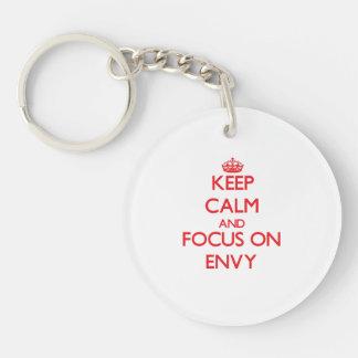 Keep Calm and focus on ENVY Double-Sided Round Acrylic Keychain