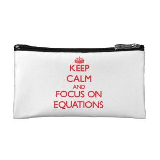 Keep Calm and focus on EQUATIONS Makeup Bag