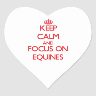 Keep Calm and focus on EQUINES Stickers