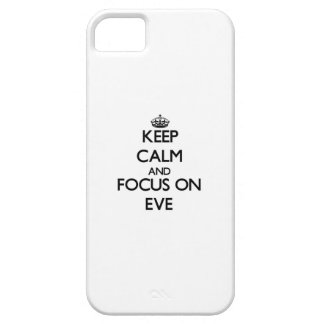 Keep Calm and focus on EVE iPhone 5 Cover
