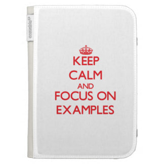 Keep Calm and focus on EXAMPLES Kindle Cases