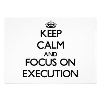 Keep Calm and focus on EXECUTION Custom Invitations