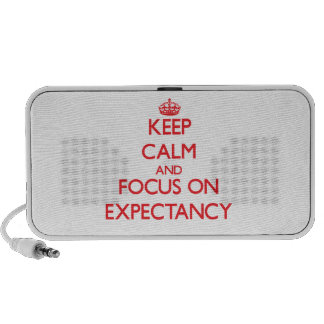 Keep Calm and focus on EXPECTANCY Laptop Speaker