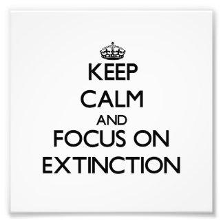 Keep Calm and focus on EXTINCTION Art Photo