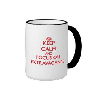 Keep Calm and focus on EXTRAVAGANCE Coffee Mugs