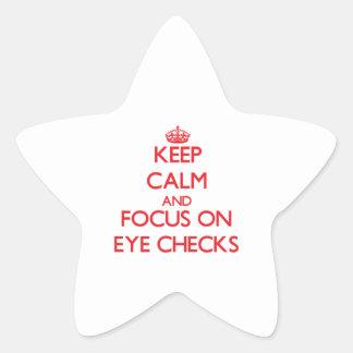 Keep Calm and focus on EYE CHECKS Sticker