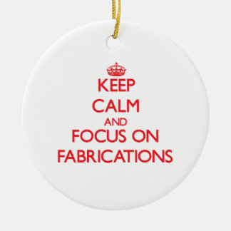 Keep Calm and focus on Fabrications Christmas Tree Ornaments