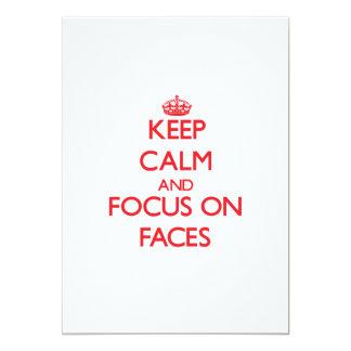 "Keep Calm and focus on Faces 5"" X 7"" Invitation Card"