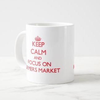 Keep Calm and focus on Farmers Market Extra Large Mug