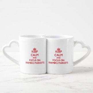 Keep Calm and focus on Farmers Markets Couples Mug