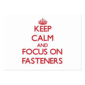 Keep Calm and focus on Fasteners Business Card Templates