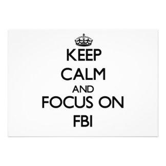 Keep Calm and focus on Fbi Invitations