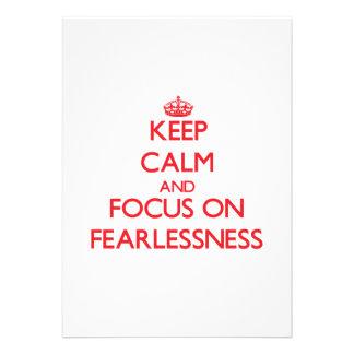 Keep Calm and focus on Fearlessness Custom Announcements