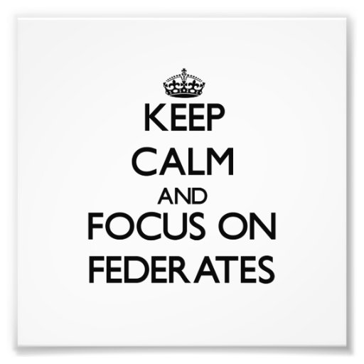 Keep Calm and focus on Federates Photo Print
