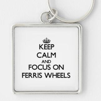 Keep Calm and focus on Ferris Wheels Key Chain