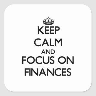Keep Calm and focus on Finances Square Sticker