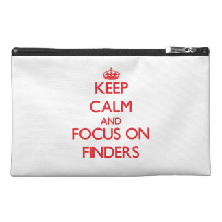 Keep Calm and focus on Finders Travel Accessory Bags
