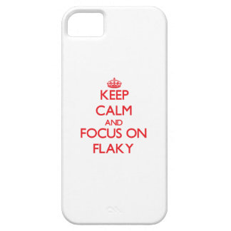 Keep Calm and focus on Flaky iPhone 5 Cases