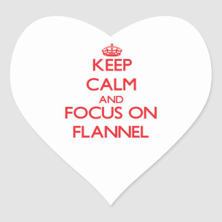 Keep Calm and focus on Flannel Heart Stickers