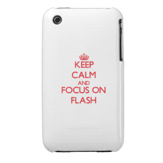 Keep Calm and focus on Flash iPhone 3 Case-Mate Cases