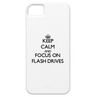 Keep Calm and focus on Flash Drives iPhone 5 Cover