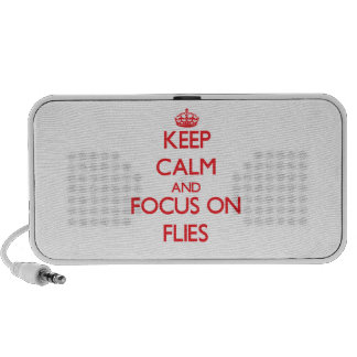 Keep Calm and focus on Flies Mp3 Speakers