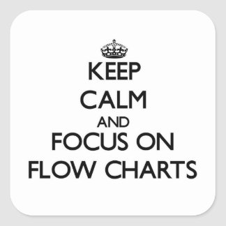 Keep Calm and focus on Flow Charts Square Sticker