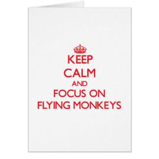 Keep Calm and focus on Flying Monkeys Card