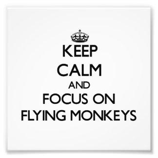 Keep Calm and focus on Flying Monkeys Photo Print
