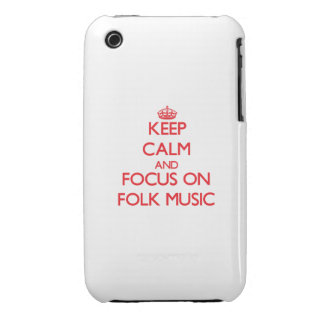 Keep Calm and focus on Folk Music Case-Mate iPhone 3 Cases