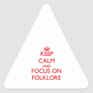 Keep Calm and focus on Folklore Stickers