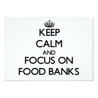 Keep Calm and focus on Food Banks Cards