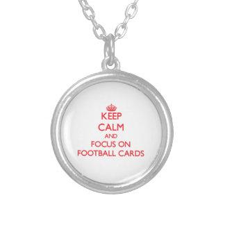 Keep calm and focus on Football Cards Pendants