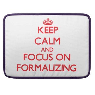 Keep Calm and focus on Formalizing Sleeves For MacBooks