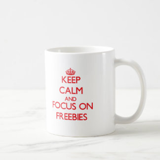 Keep Calm and focus on Freebies Basic White Mug