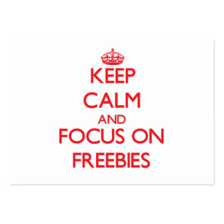 Keep Calm and focus on Freebies Business Card Template