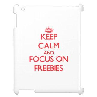 Keep Calm and focus on Freebies iPad Case