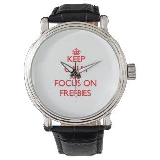 Keep Calm and focus on Freebies Watch