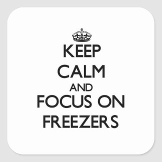 Keep Calm and focus on Freezers Sticker