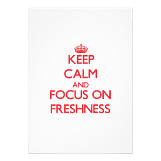 Keep Calm and focus on Freshness Announcements